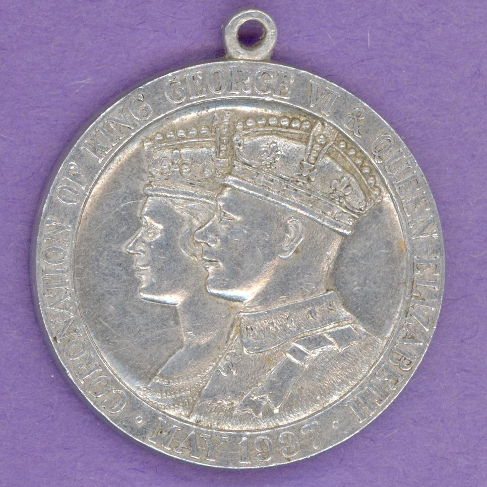 1937 George VI & Elizabeth Coronation Medal Looped